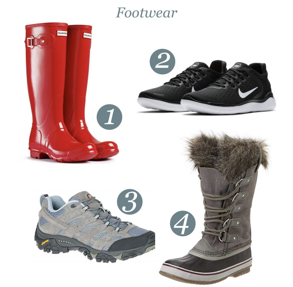 what shoes do I bring on an Alaskan Cruise