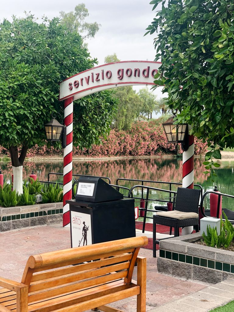 Gondola rides at Hyatt scottsdale