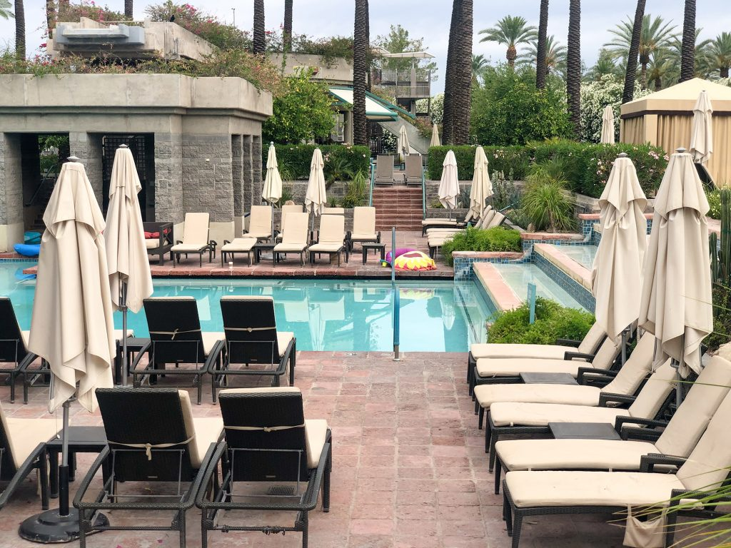 adult pool area at Hyatt scottsdale
