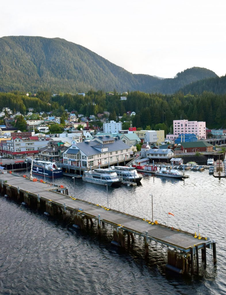 ketchikan view from cruise ship