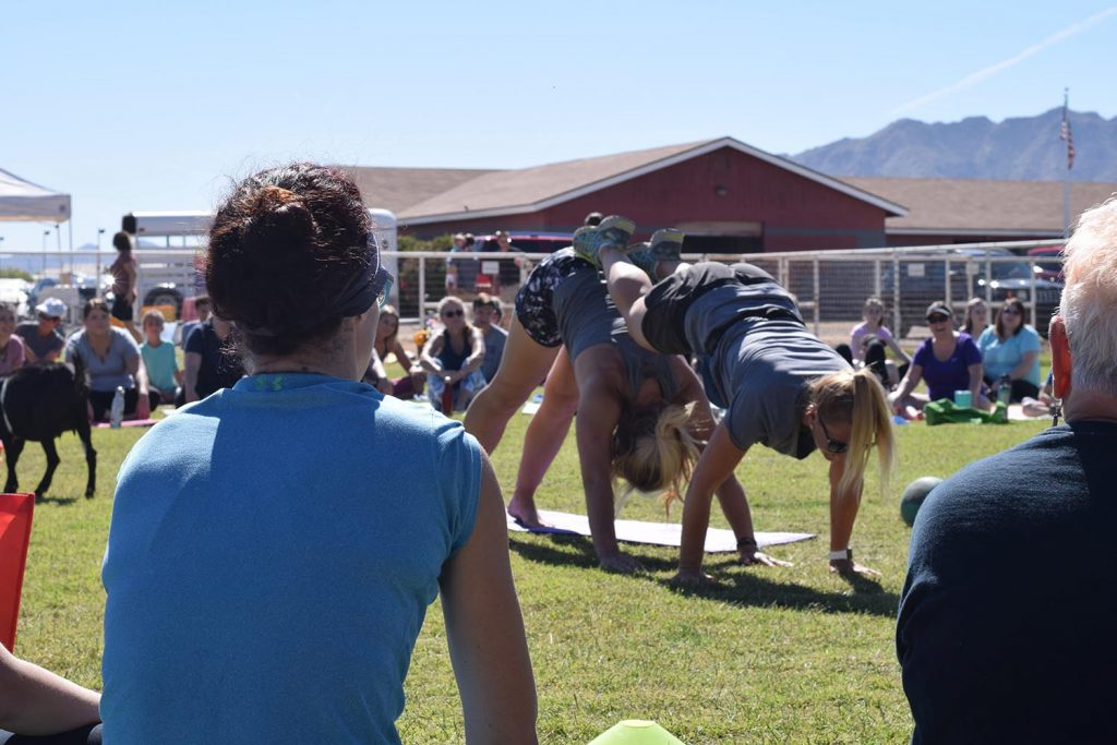 instructors at goat yoga