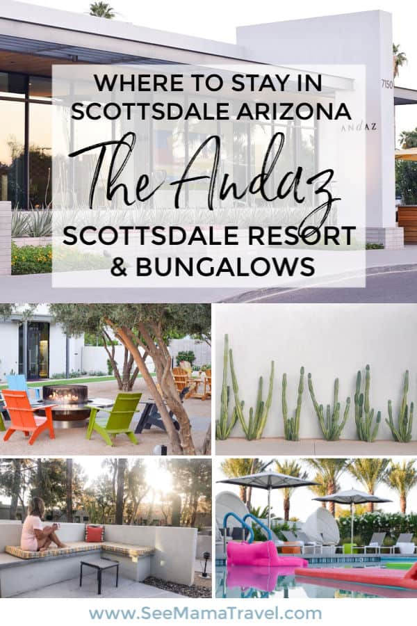 Where to stay in Scottsdale Arizona, the Andaz Scottsdale Resort & Bungalows