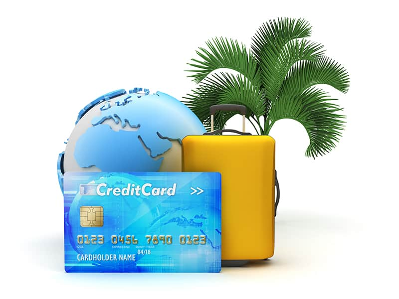 Airline miles credit card, saving money for vacation
