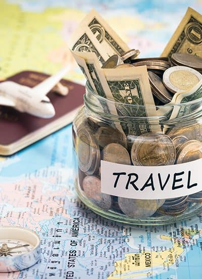 save money for travel, vacation funds, travel budget