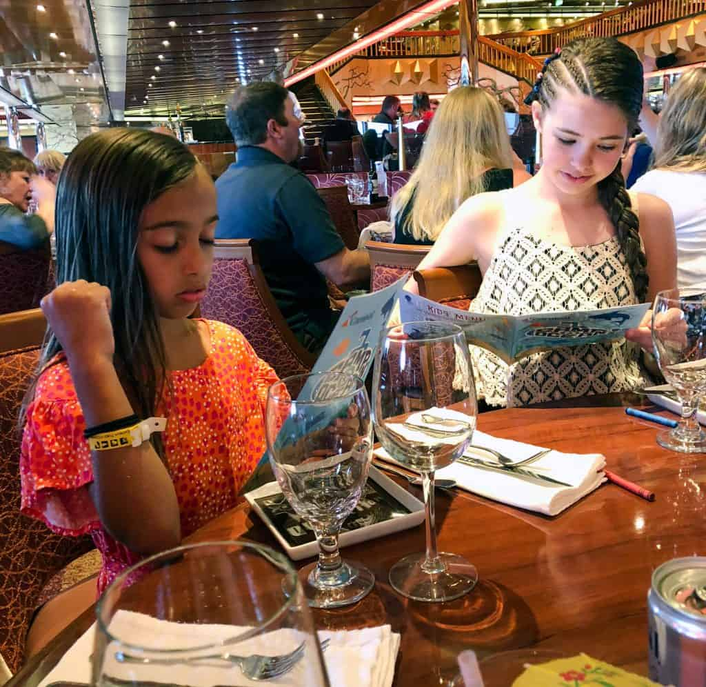 cruise ship dining guide