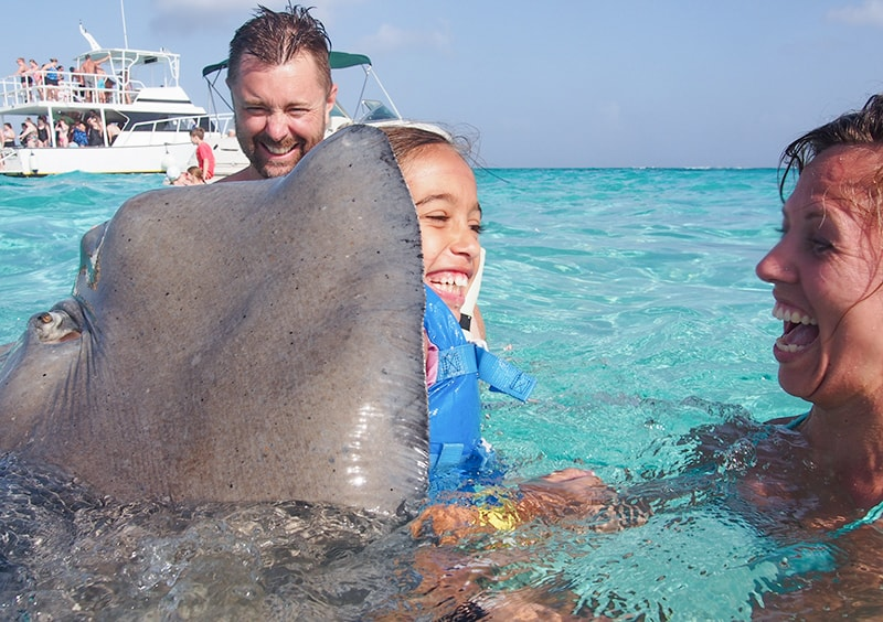 sting ray city at Grand Cayman Island