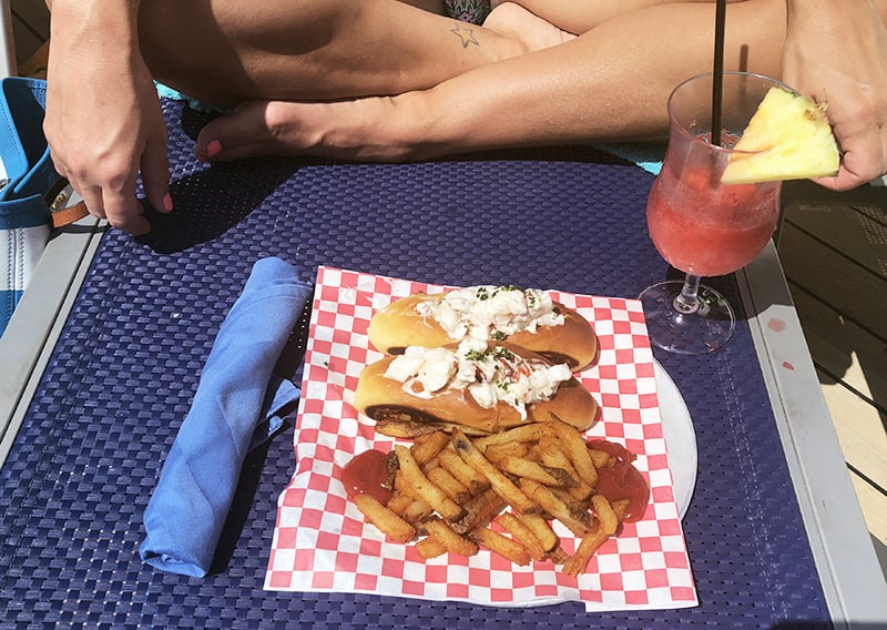 cruise ship dining, lobster roll,