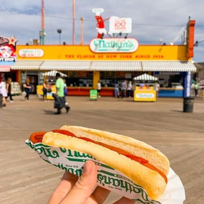 nathan's hot dog stand, new york city, coney island