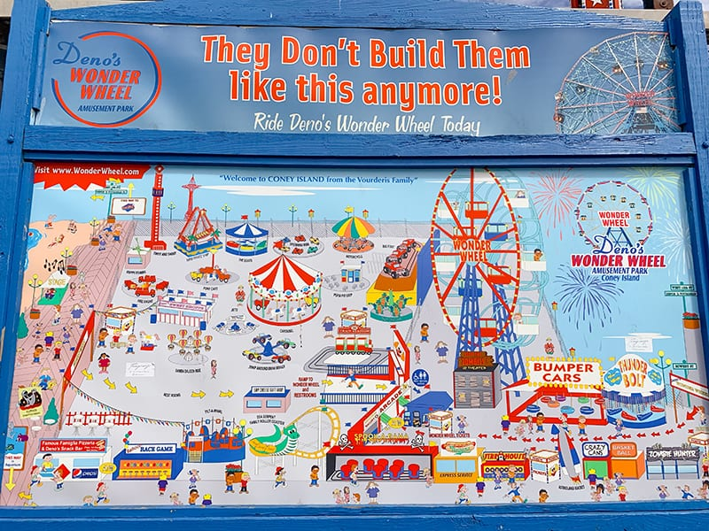 map of luna amusement park, new york city