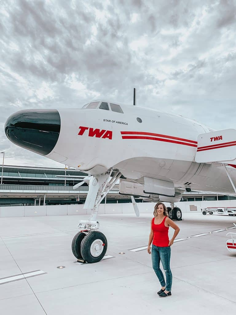 Connie the Airplane at the TWA hotel at JFK, New York