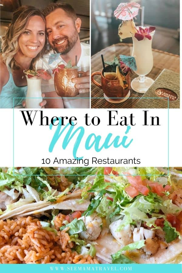 where to eat in Maui. Maui food. Maui restaurants