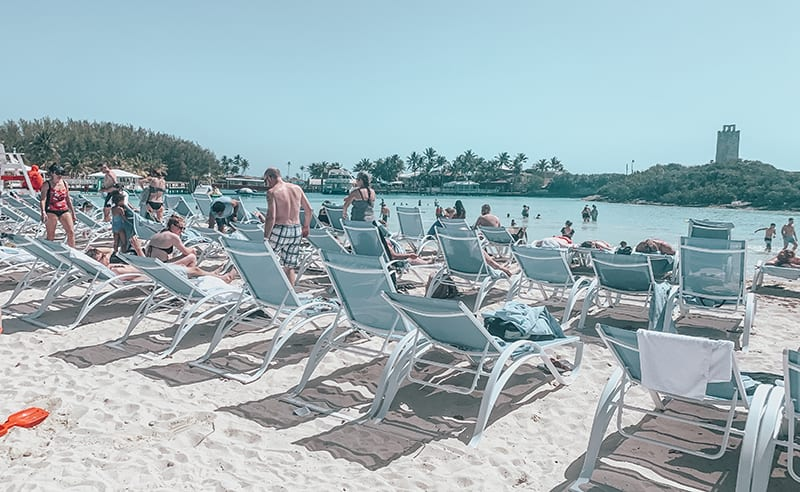 Crowded lounge chairs