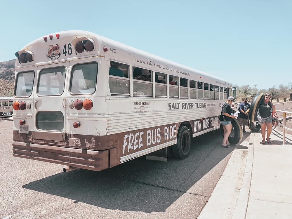 Shuttle bus for Salt river Tubing Company
